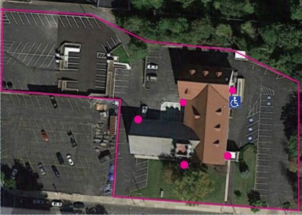 aerial view of parking at Hight Street UMC
